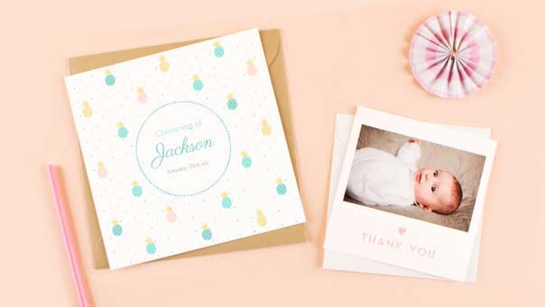 Personalised Christening Stationery