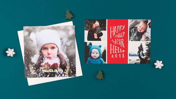 Wundersch ne weihnachtskarten personalisiert und mit for Weihnachtskarten personalisiert