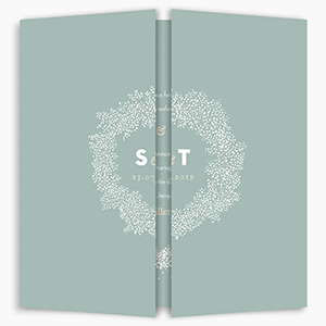 Gatefold wedding invitation Baby's Breath